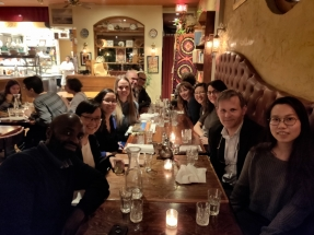 Farewell dinner for Leanne at Rumi